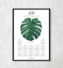 Kalendarz botaniczny na rok 2019 z Monsterą