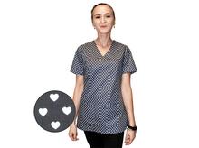 Bluza medyczna damska grafitowa serca 100% bawełna