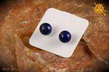 Lapis Lazuli kolczyki sztyft srebro