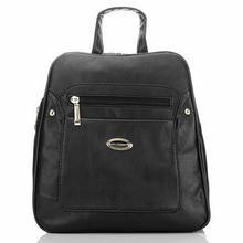 Funkcjonalny i elegancki czarny plecak damski - czarny