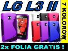 ETUI GUMA SILIKON S-LINE LG L3 II E430 2xFOLIA