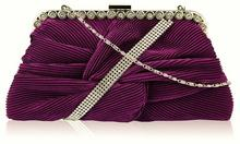 Fioletowa torebka wizytowa kopertówka - fioletowy