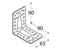 Kątownik z przetłoczeniem KP 1 / 90x90x65x2,5