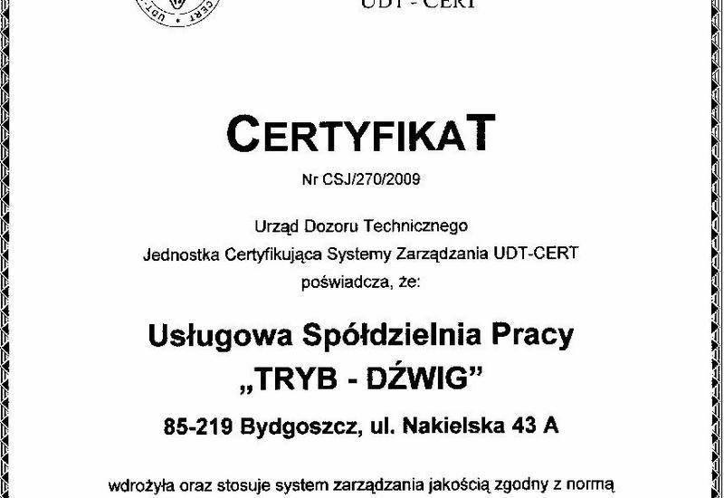 dźwigi - Usługowa Spółdzielnia Pra... zdjęcie 1