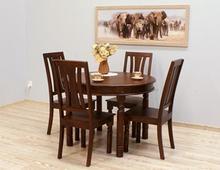 Komplet obiadowy indyjski stół + 4 krzesła