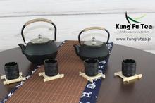 Żeliwny Zestaw do parzenie herbaty Gold
