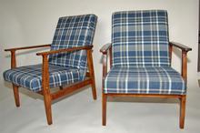Para foteli klasycznych, lata 70 krata